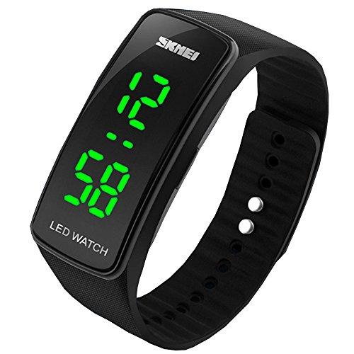 SunJas Unisex Mode Silikon LED Sport Armband Touch