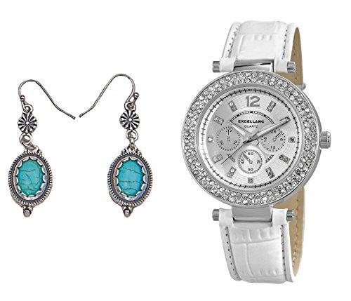 Modische Edel mit Strass Crystal Besatz Geschenk Set mit Ohrringe im Vintage Look
