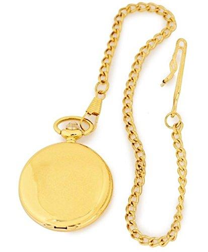 Taschenuhr hochwertiges Quarzwerk in IPG vergoldet