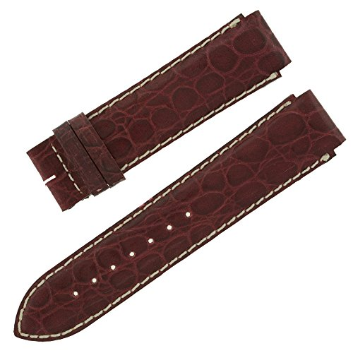 Faconnable 18 20 mm echt Alligator Leder burgund Band