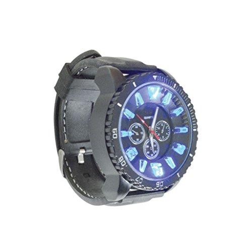 Schwarz LED Uhr gross