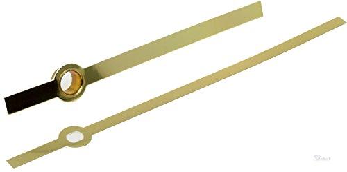 Junghans W838 817 Zeiger Baton Balken ALU goldfarbig Laenge 76mm Eurolochung