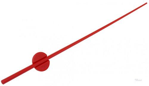 Uhr Sekundenzeiger Kunststoff rot Laenge 80 mm fuer Quarzwerk 838 Eurolochung