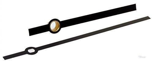 1 Paar Zeiger Baton Balken ALU schwarz Laenge 76 mm fuer Jng 838 Eurolochung