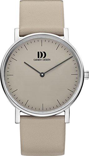 Danish Designs Damen Armbanduhr Analog Leder Grau DZ120473