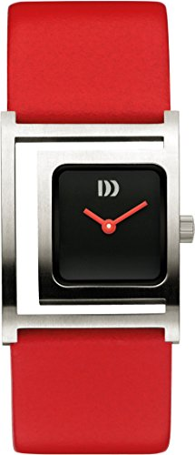 Danish Designs Damen Armbanduhr Danish Design Analog Leder Rot DZ120408