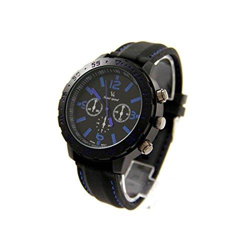 Armbanduhr mit Silikon schwarz V6 58
