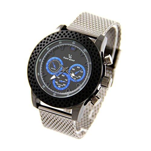 Armbanduhr mit Schoenes Armband Stahl V6 1317