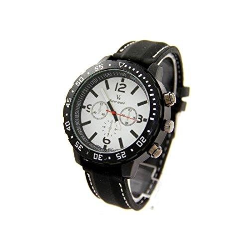 Armbanduhr Stil Silikon Schwarz V6 924