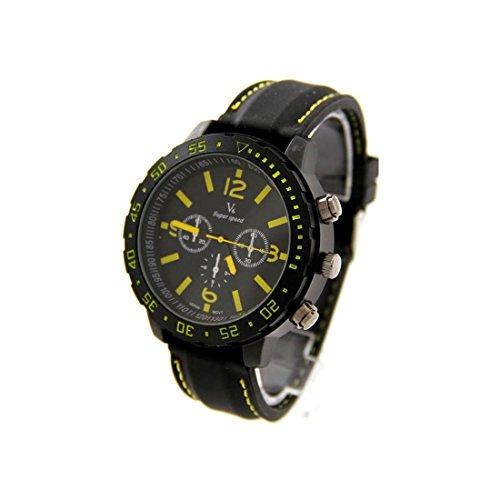 Zeigt Herren Armband Silikon Schwarz V6 1401