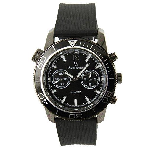 V6 Armbanduhr Silikon Farbe Schwarz V6 1142
