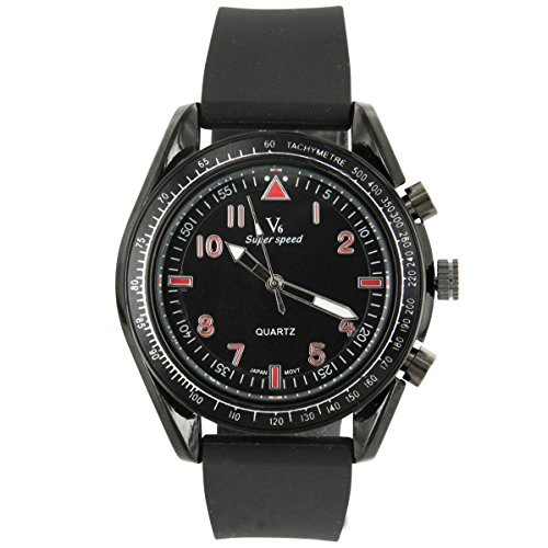 V6 Armbanduhr Jolie Armbanduhr Silikon schwarz V6 1011