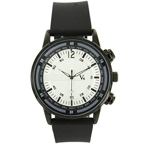 V6 Armbanduhr Jolie Armbanduhr Silikon schwarz V6 1126