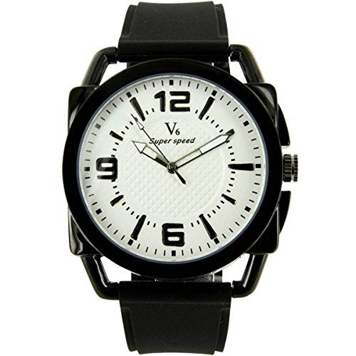 V6 Armbanduhr Silikon Farbe schwarz V6 1161
