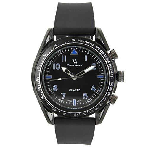 V6 Armbanduhr Belle Armbanduhr Silikon schwarz V6 803