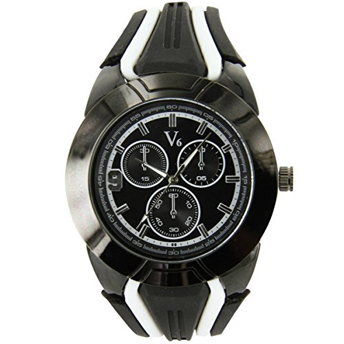 V6 Armbanduhr Silikon schwarz V6 Fashion 1236