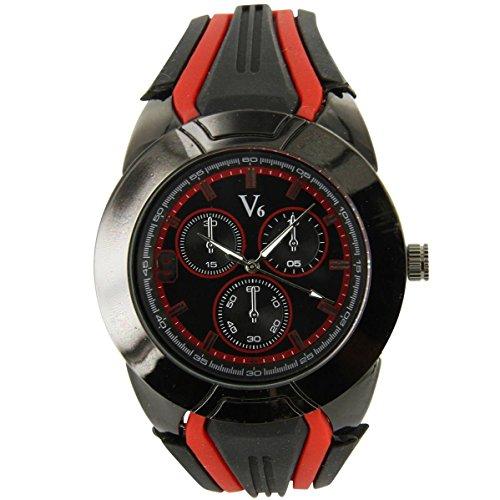 V6 Armbanduhr Silikon schwarz V6 Trend 1233