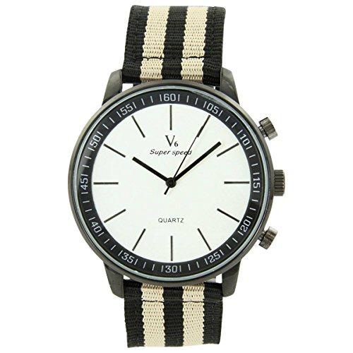 V6 Armbanduhr Zeigt Fantasie Herren Stoff schwarz V6 1039