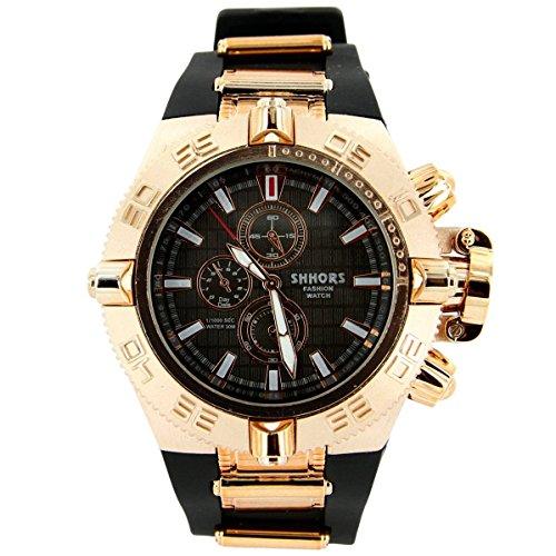 V6 Armbanduhr Zeigt Herren Armband Silikon Schwarz 2716