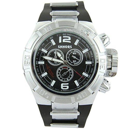V6 Armbanduhr Zeigt Herren Armband Silikon Schwarz 2411