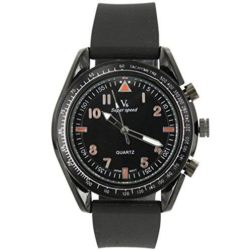 V6 Armbanduhr Trend Silikon Schwarz V6 331