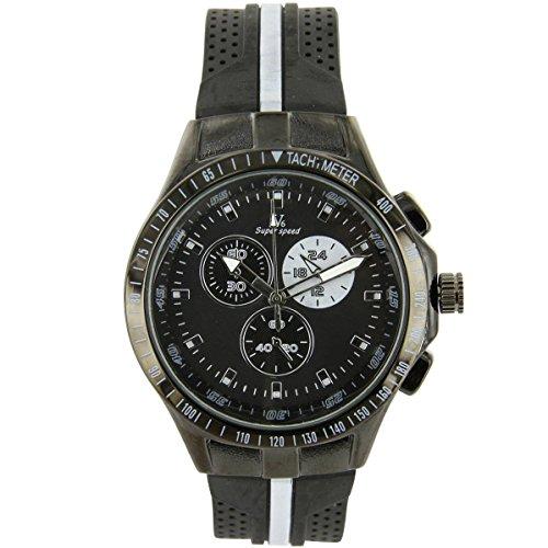 V6 Armbanduhr Zeigt D Herren Silikon Schwarz V6 1173