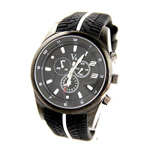 Armbanduhr Silikon schwarz V6 1265