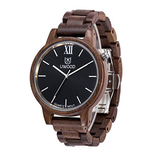 uwood Luxus Design Walnuss Material Holz Uhr Casual