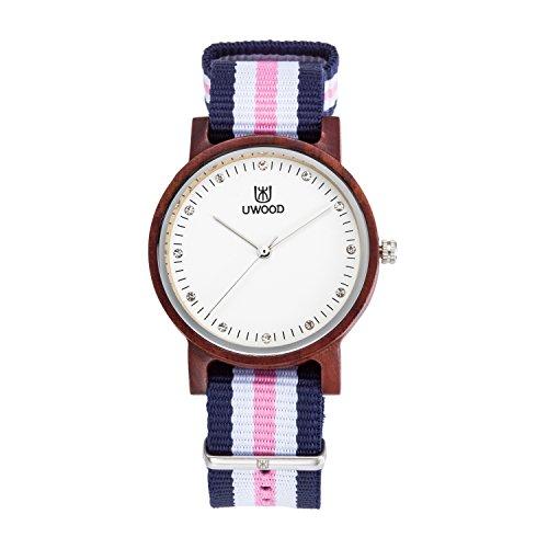 UWOOD Red Sandalwood Small Size einzigartige hoelzerne Uhren Luxuxart