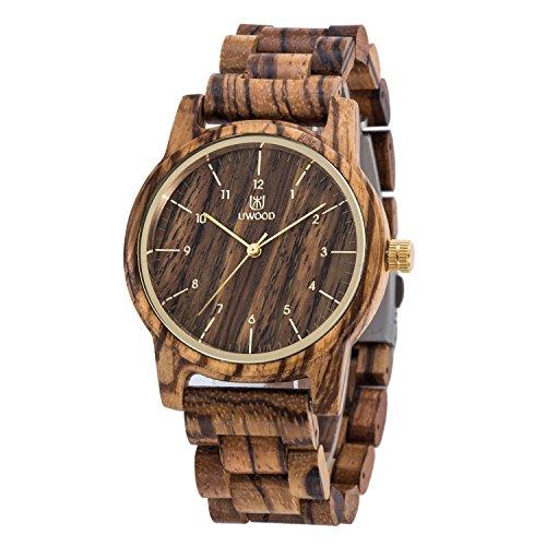 Uwood Zebra Holz Uhr Mann Frauen Holz Armbanduhr Miyota Quarzwerk