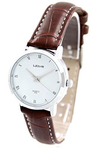 Damen Armbanduhr Leder braun Wave 2662