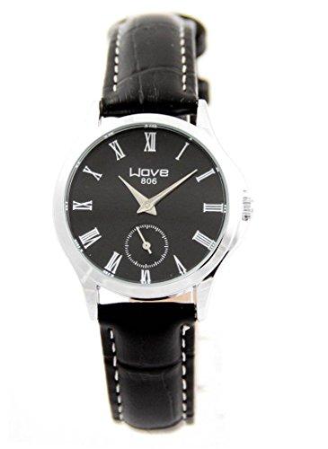 Damen Uhr mit Leder schwarz Wave 2044