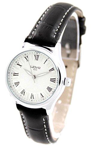 Damen Uhr mit Leder schwarz Wave 2900