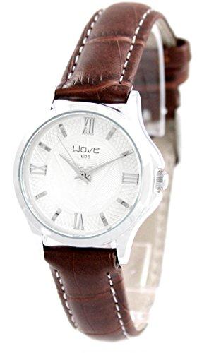 Damen Uhr mit Leder braun Wave 508