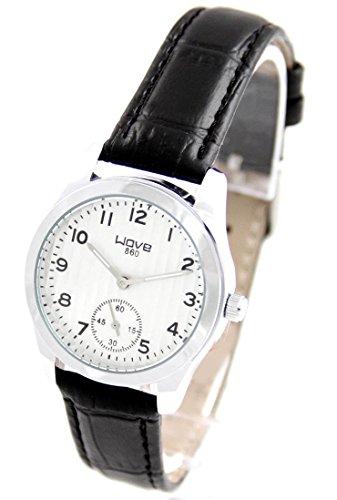 Damen Uhr mit Leder schwarz Wave 785