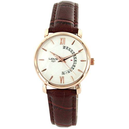 Wave Damen Damen Armbanduhr und Leder braun Wave 1685