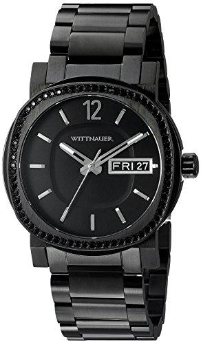 Wittnauer Armband Edelstahl Schwarz Gehaeuse Quarz Chronograph WN3050