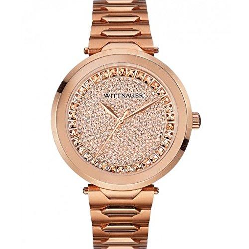 Wittnauer Herren Taylor Rose Gold Ton Edelstahl Armband Armbanduhr