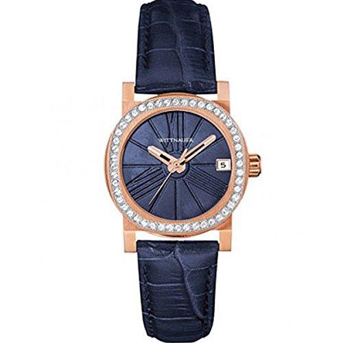 Wittnauer wn2000 Damen Adele Mini Blau Leder Band Armbanduhr