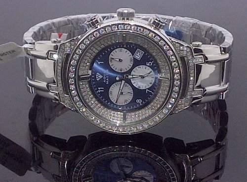 AQUA MASTER Herren-Armbanduhr Analog edelstahl Weiss 0113MW226UZ