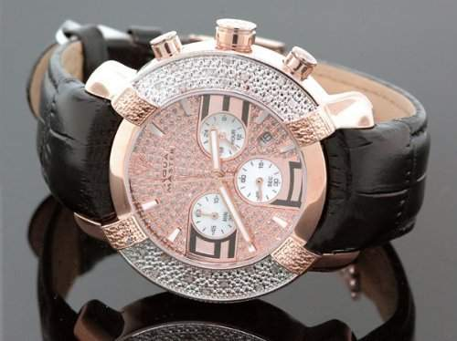 AQUA MASTER Herren-Armbanduhr Analog Leder Schwarz 0518IYP77T5