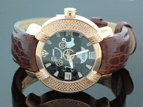 AQUA MASTER Herren Armbanduhr Analog Leder Schwarz 0112MUUFPON