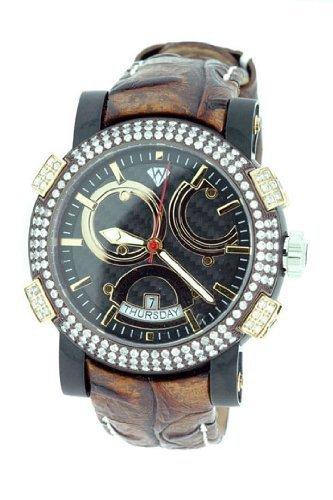 Aqua Master Titan Automatische 3 50 CT Diamant Herren Armbanduhr w312 a1