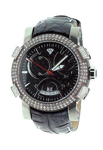Aqua Master Titan Automatische 3 50 CT Diamant Herren Armbanduhr w312 a2
