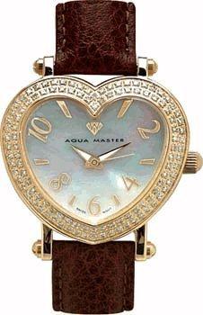 Aqua Master Damen Armbanduhr Zwei Zeile Diamant Herz 1 50 ctw