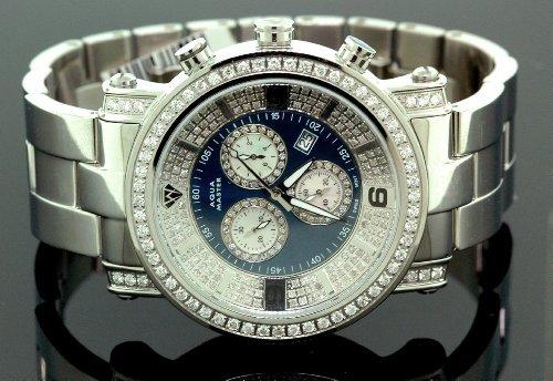 Aqua Master Diamant Herren Armbanduhr 3 60 CT w104b