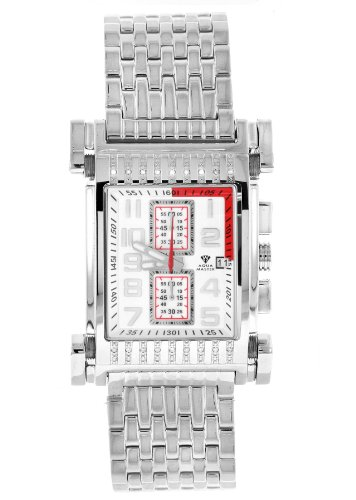 Aqua Master Herren Armbanduhr Casino Serie Edelstahl Set mit 18 Diamanten W 330