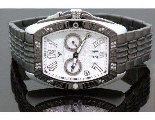 Aqua Master Tonneau 0 50 ctw Herren Diamant Armbanduhr W315 8