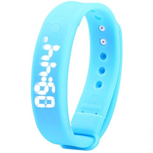 Leopard Shop TVG KM 133 Multifunktionale unisex Sport Armbanduhr LED Display Alarm Kalender Temperatur erkennen Magnetverschluss blau