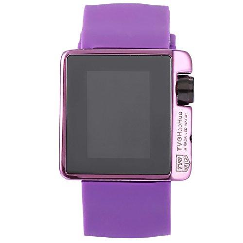 Leopard Shop TVG 4 G08 weiblich Armbanduhr Mode LED Digital Multifunktional Sport Armbanduhr Kalender Wasser Widerstand violett